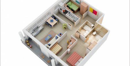 THiết kế căn hộ 3 Phòng ngủ tại Hải Phòng
